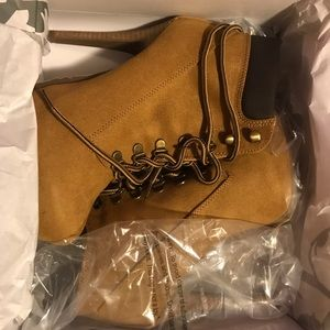Macy's Shoes - Timberland style high heel boots